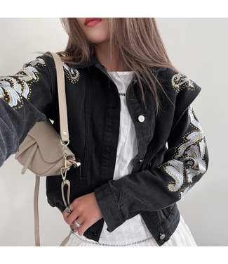 Misaki Denim Jacket / Dark Grey