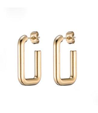 Gold Modern Hoop Earrings
