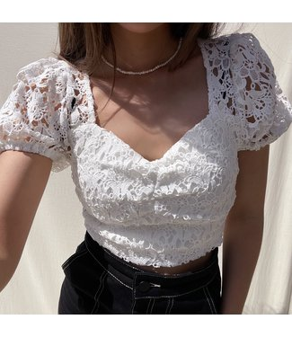 Gracia Lace Top / White