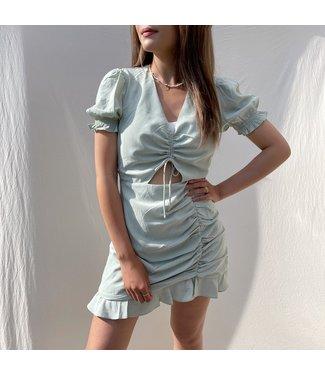 Jamilla Cut Out Dress / Sage