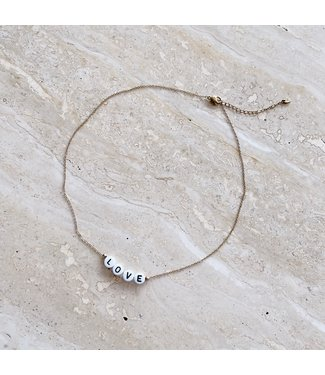 Gold Love Beads Necklace