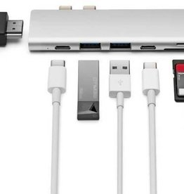 Minix MINIX NEO  USB-C Multiport Adapter -  Silver