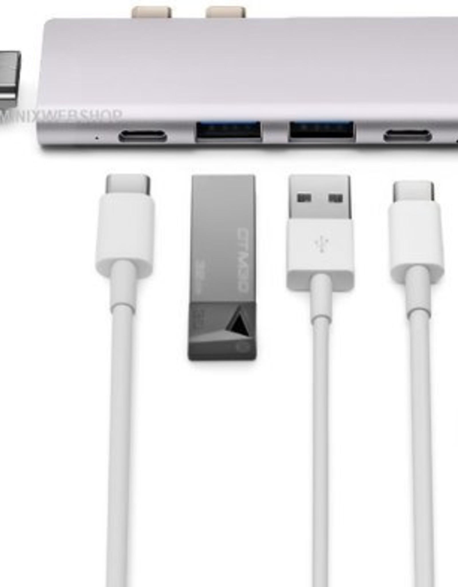 Minix MINIX NEO  USB-C Multiport Adapter voor Macbook Pro Space Grey