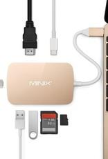 MINIX MINIX NEO C-X, HDMI USB-C Adapter [10/100Mbps Ethernet] Goud