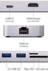 MINIX MINIX NEO C-X, HDMI USB-C Adapter [10/100Mbps Ethernet] Space Grey