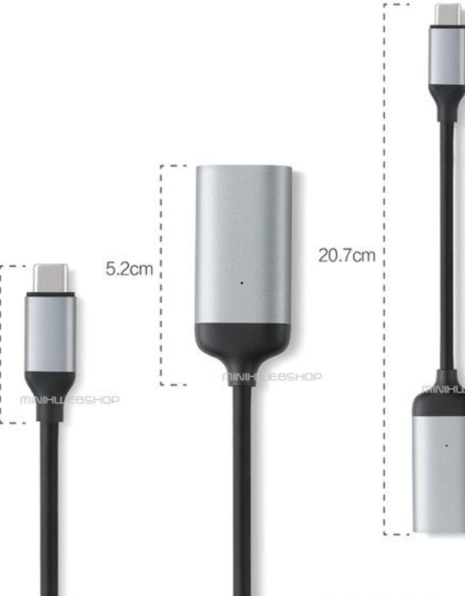 MINIX MINIX NEO C-HD USB-C naar 4K @ 60Hz HDMI Adapter Grijs