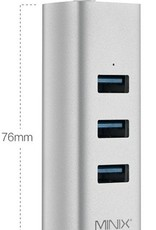 MINIX MINIX NEO C-UE USB-C naar 3-Port USB 3.0 en Gigabit Ethernet Adapter Zilver