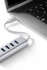 MINIX MINIX NEO C-UH USB-C naar 4-Port USB 3.0 en 4K @ 30Hz HDMI Hub Adapter Zilver