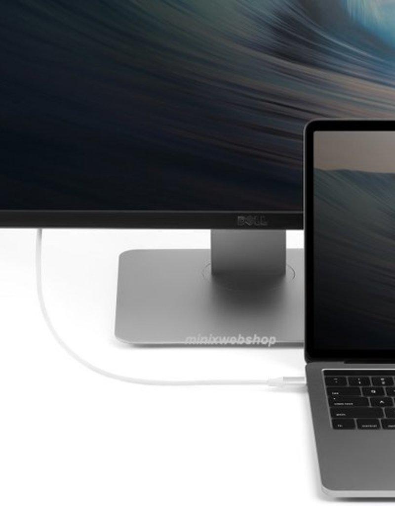 MINIX MINIX NEO-C-4KGR USB-C HDMI Silver kabeladapter/verloopstukje - Copy