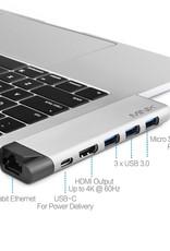 Minix MINIX NEO  USB-C Multiport Adapter voor MacBook Air / Pro -  Silver -