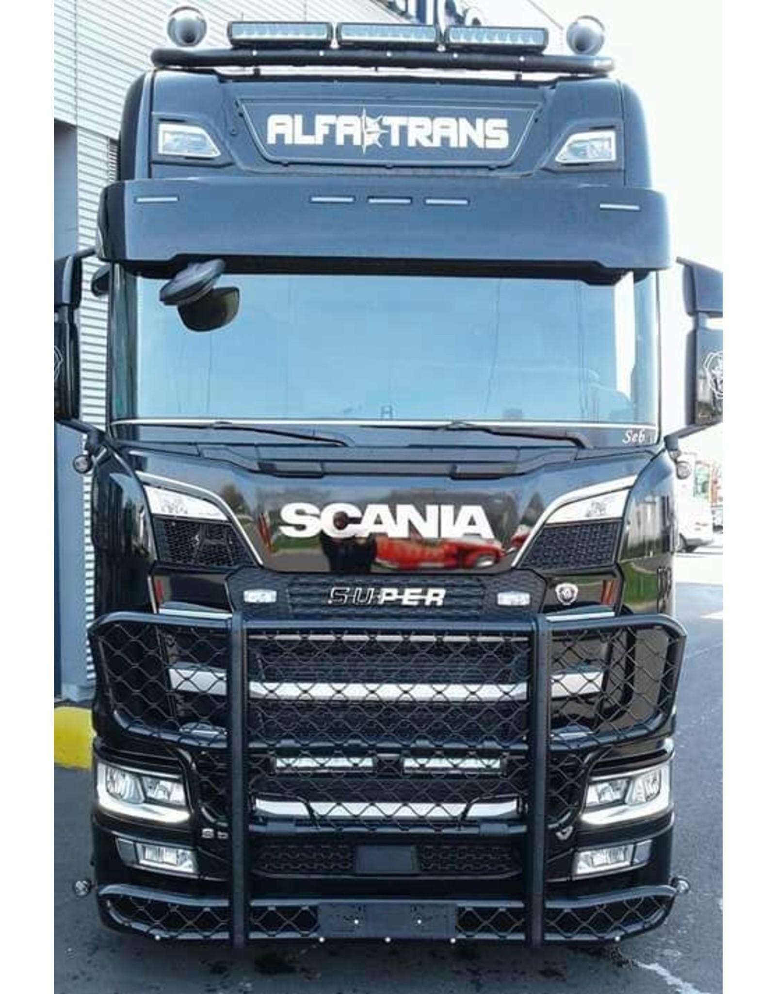 Scania Zonneklep Scania NG / Kunststof 34 cm met 5 toplamp gaten