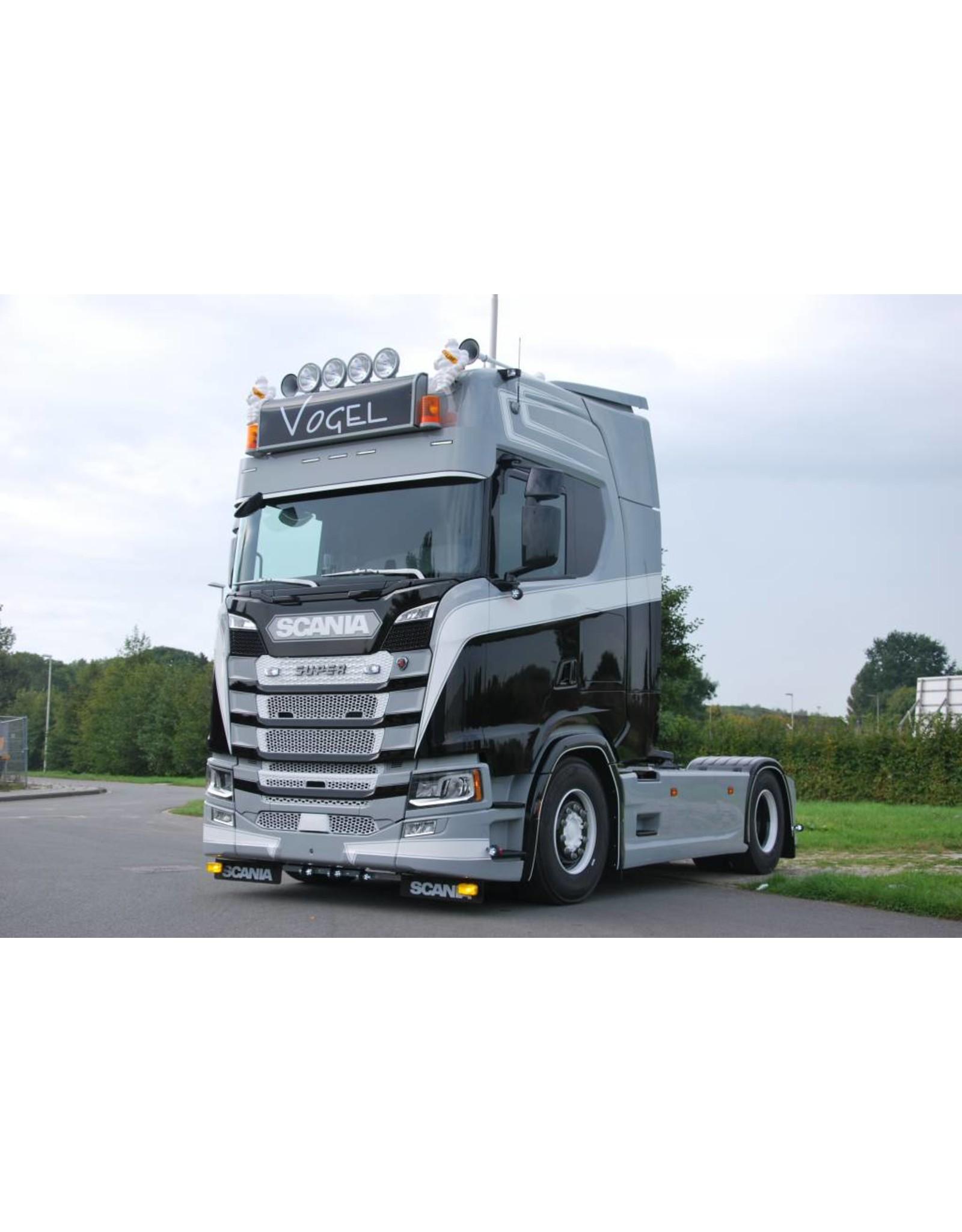 Scania Zonneklep Scania NG / Aluminium met toplamp gaten