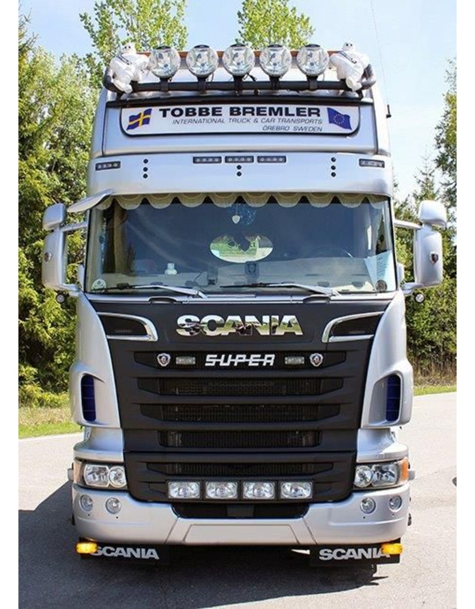 Scania Zonneklep Scania R Topline /Highline Truckstyle 5 toplamp gaten