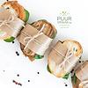Salade van mosselen met honing en mosterddressing