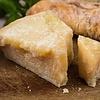 Provolone helemaal uitgerijpt tot een harde kaas en Bio