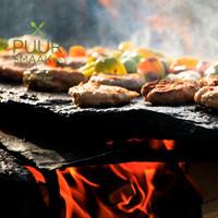Vlees voor fondue voor de feestdagen