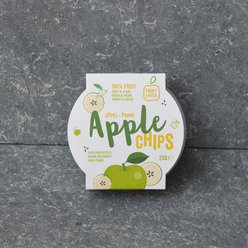 Gedroogde groene appelschijfjes