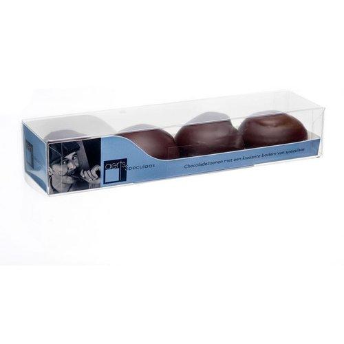 Chocolade zoenen puur van Aerts uit Lokeren