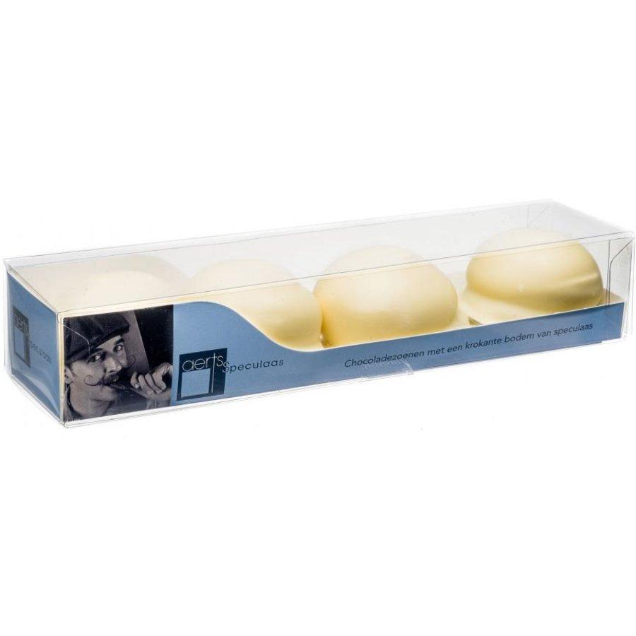 Chocolade zoenen wit van Aerts uit Lokeren-1