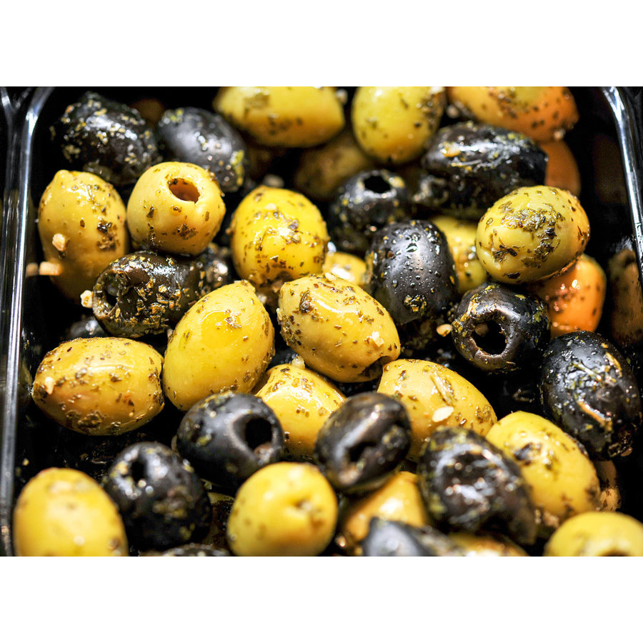 Mixed bio olijven met Italiaanse kruiden-1