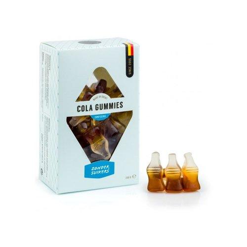Suikervrije colaflesjes in geschenkverpakking