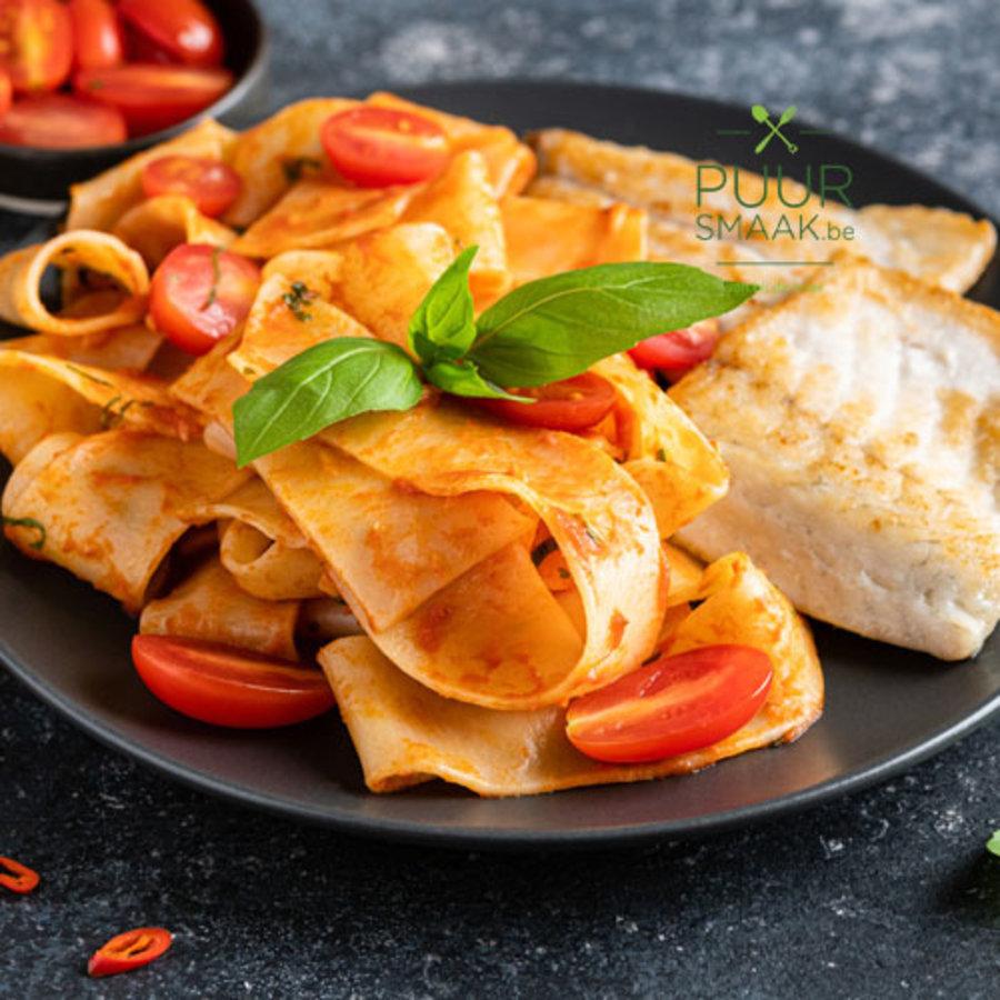 Zeebaars met ambachtelijke pasta PuurSmaak@home-1