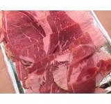 Jamon iberico, gekookte ham van het been gesneden