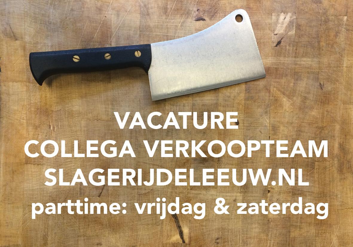 vacature parttime verkoopteam Slagerij De Leeuw Amsterdam