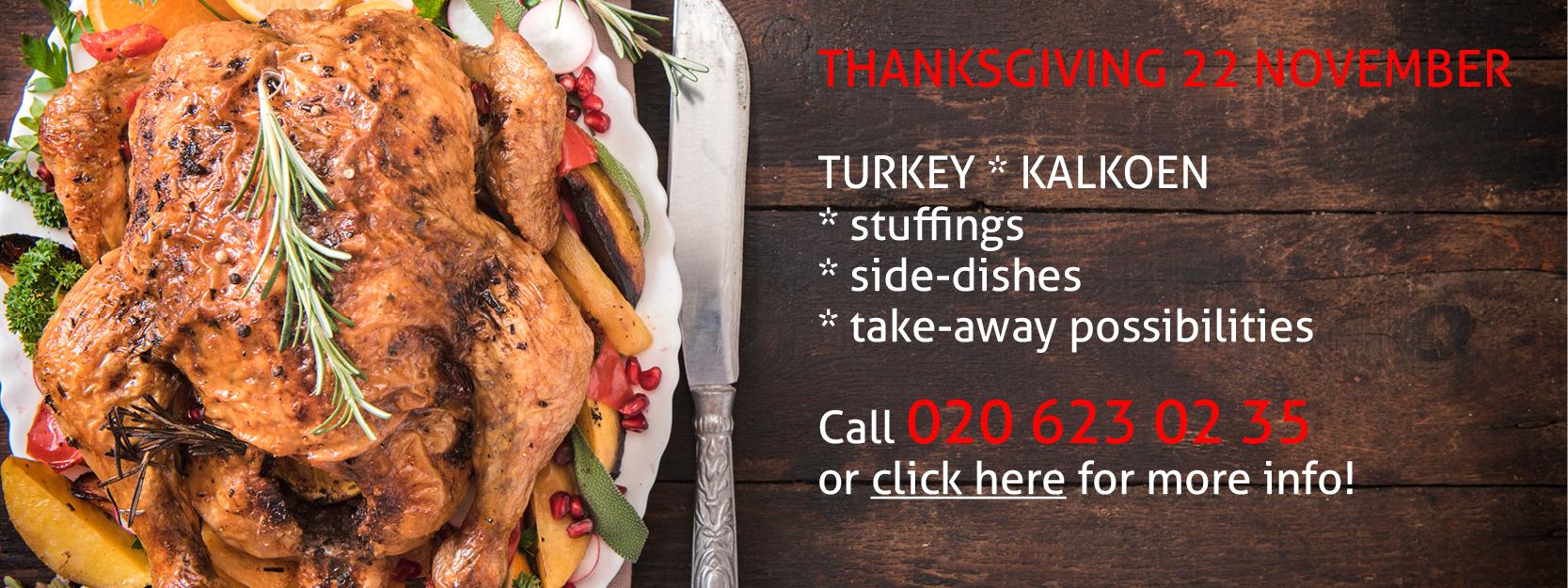 Thanksgiving turkey kalkoen Slagerij De Leeuw Amsterdam