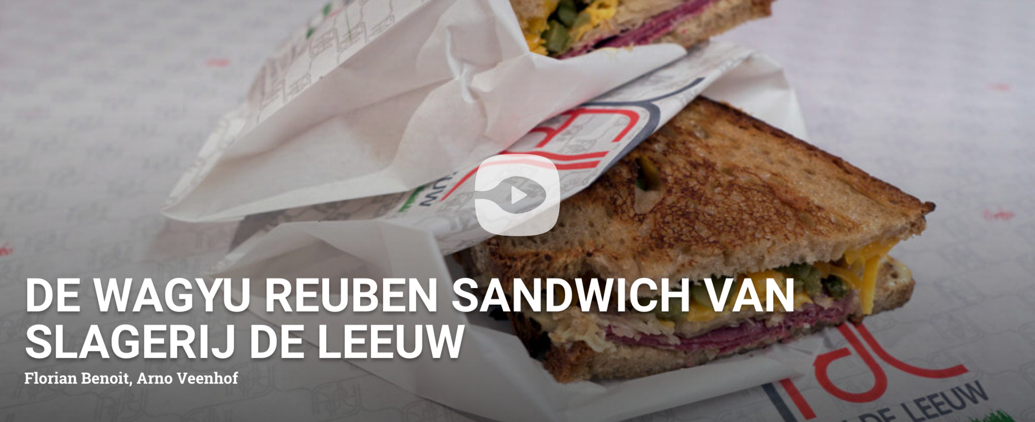 Foodtube The making of wagyu Reuben sandwich Slagerij De Leeuw