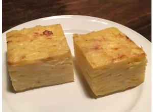 Aardappelgratin/knolselderij/pompoen