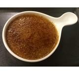 Crème brûlée eendenlever/ sereh/limoenblad