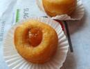 Donut eendenlever/ abrikozencompote