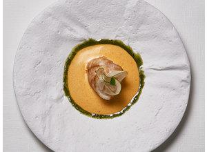 Zeeduivel, curry, Thaise basilicum, papaja/venkelsalade