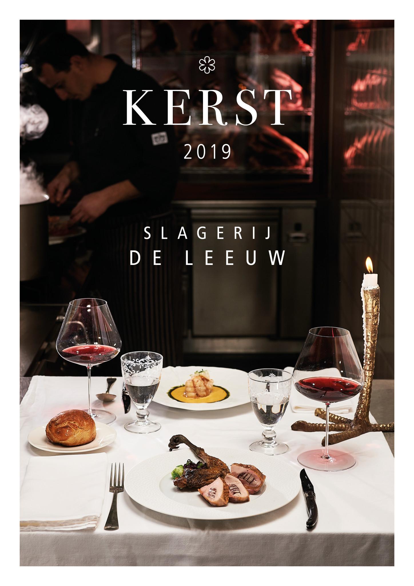 Kerstbrochure 2019 Slagerij De Leeuw traiteur deli Amsterdam