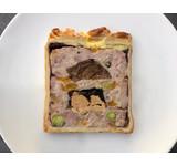 Paté en croûte/EKOkippendij/ varkenswang/foie/abrikoos
