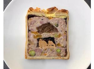 Paté en croûte/EKOkippendij/ varkenswang/eendenlever/abrikoos