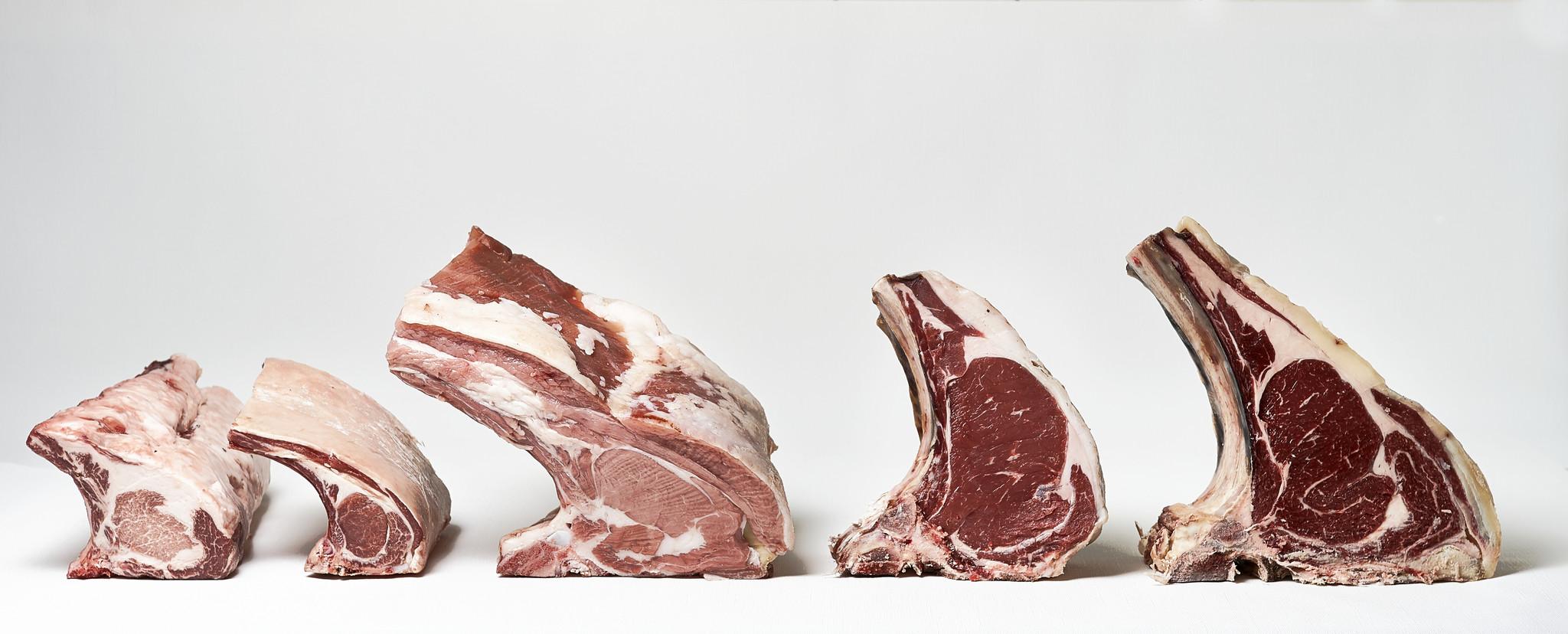 Cote de boeuf, veau, l'agneau, Iberico