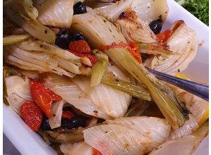 Geroosterde venkel/paprika/Taggiasca-olijf
