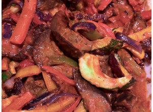 Ratatouille: paprika/courgette/aubergine/tomaat
