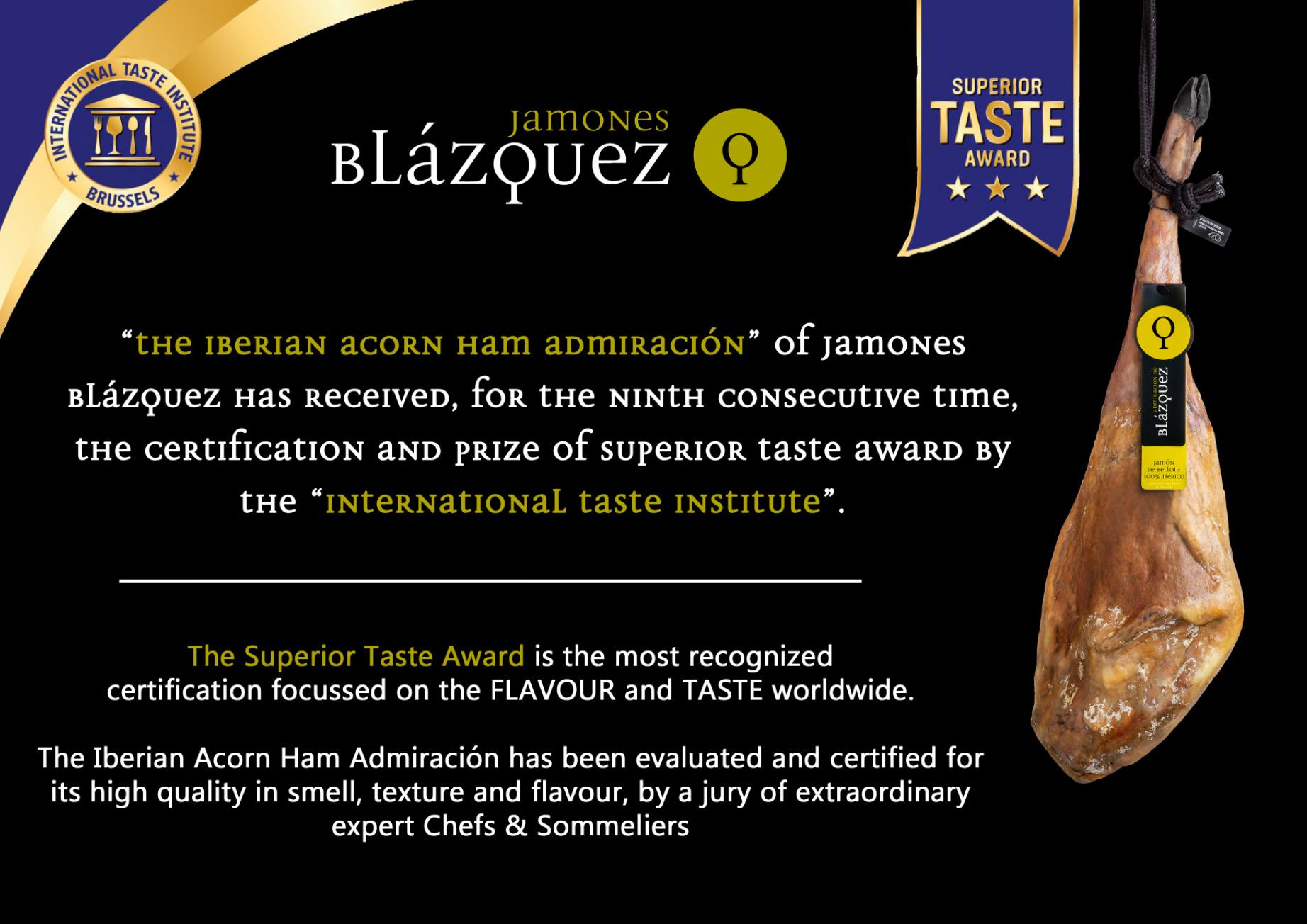 Superior Taste Award 2020 Admiracion Jamones Blazques Slagerij De Leeuw Amsterdam