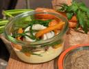 Gepocheerde scholfilet, bospeen, zeekraal, sinaasappel, beurre blanc