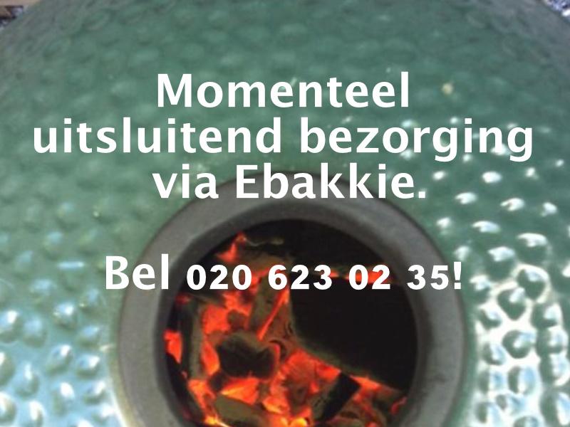 Momenteel alleen bezorging via Ebakkie