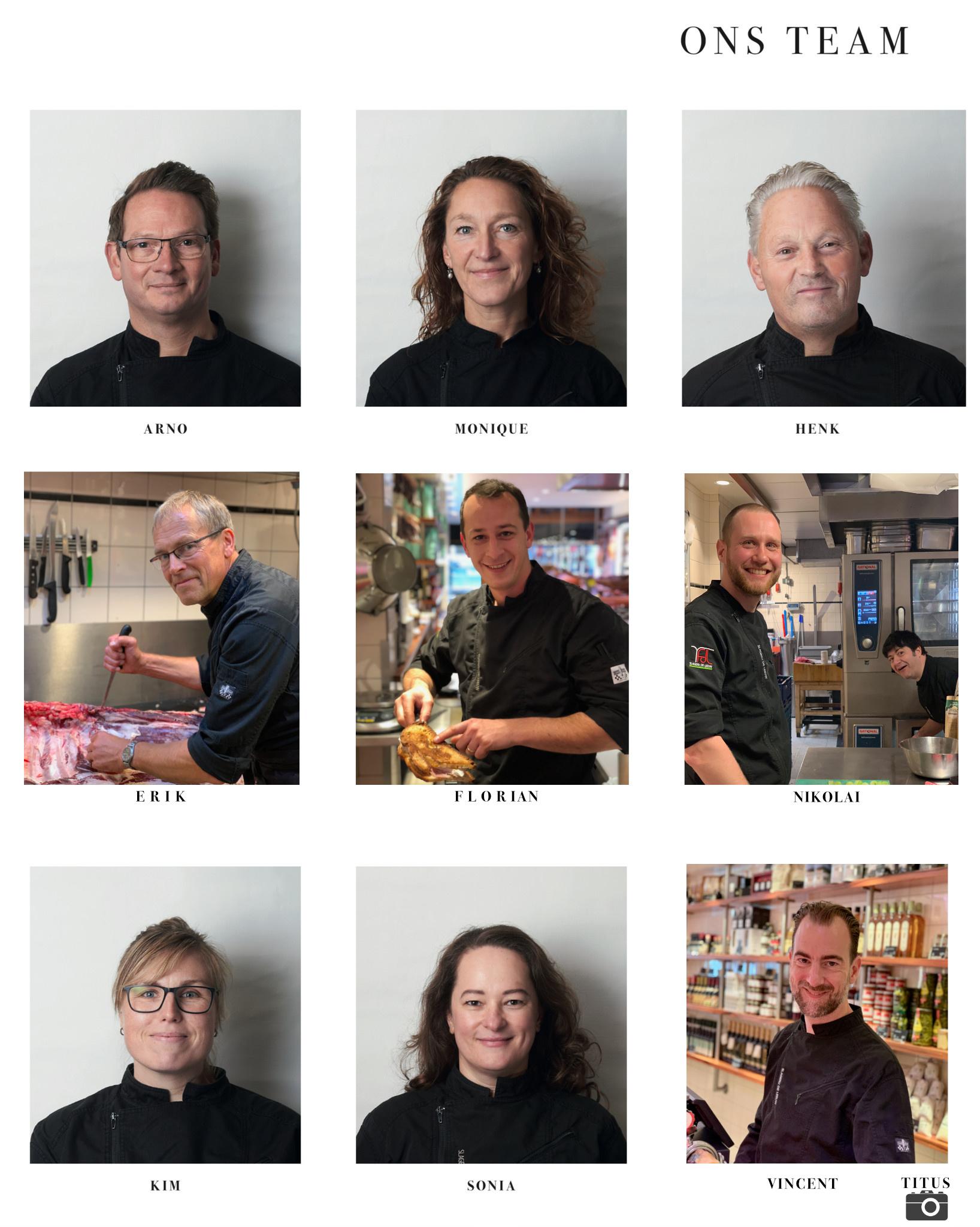 Team Slagerij De Leeuw traiteur Amsterdam