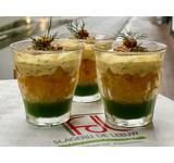 Tartaar gele biet/mosterd'kaviaar'/ basilicum/mosterd/mais (VEGA)