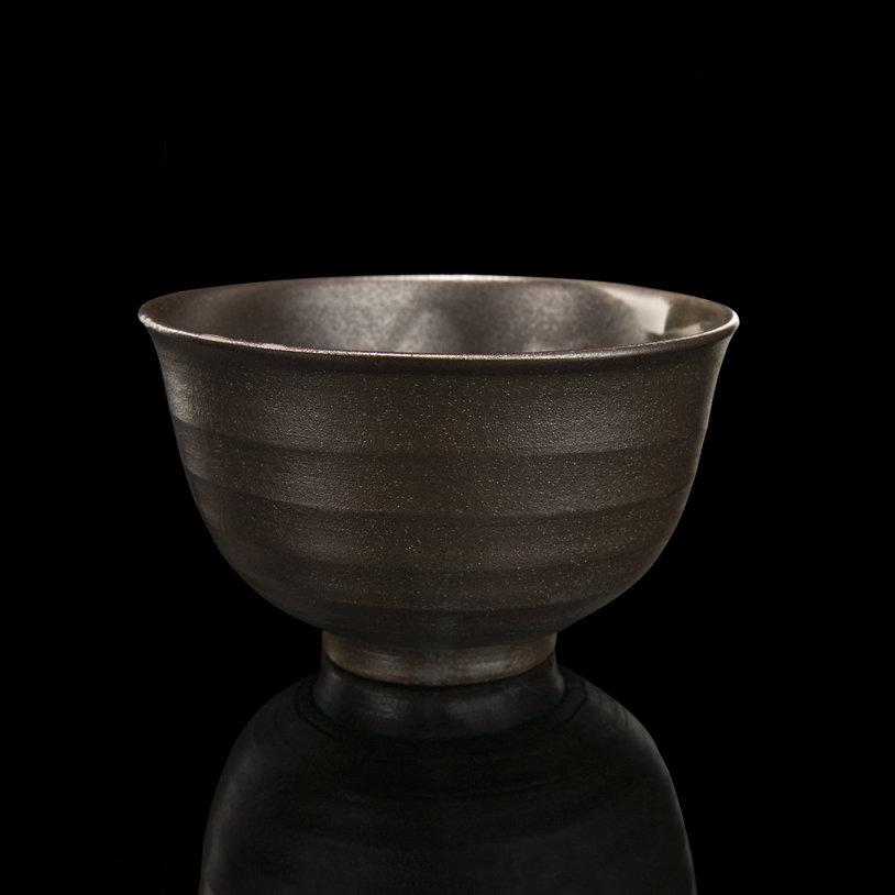 Handmade Matcha bowl gray