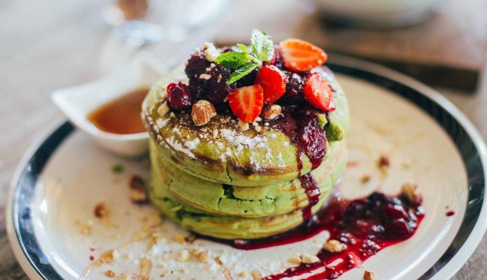 Recept:  Luchtige mini matcha pancakes