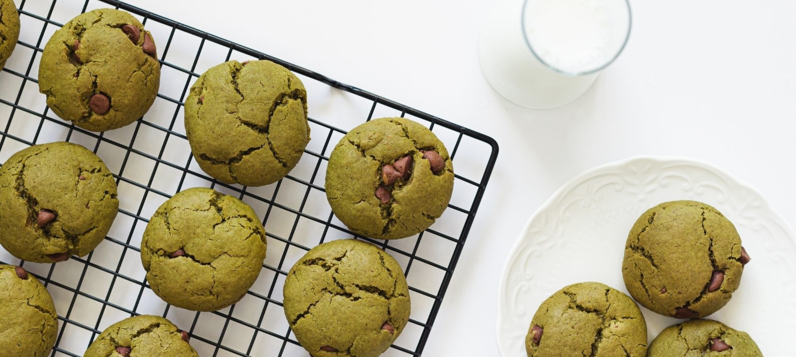 Recept: matcha chocoladekoekjes