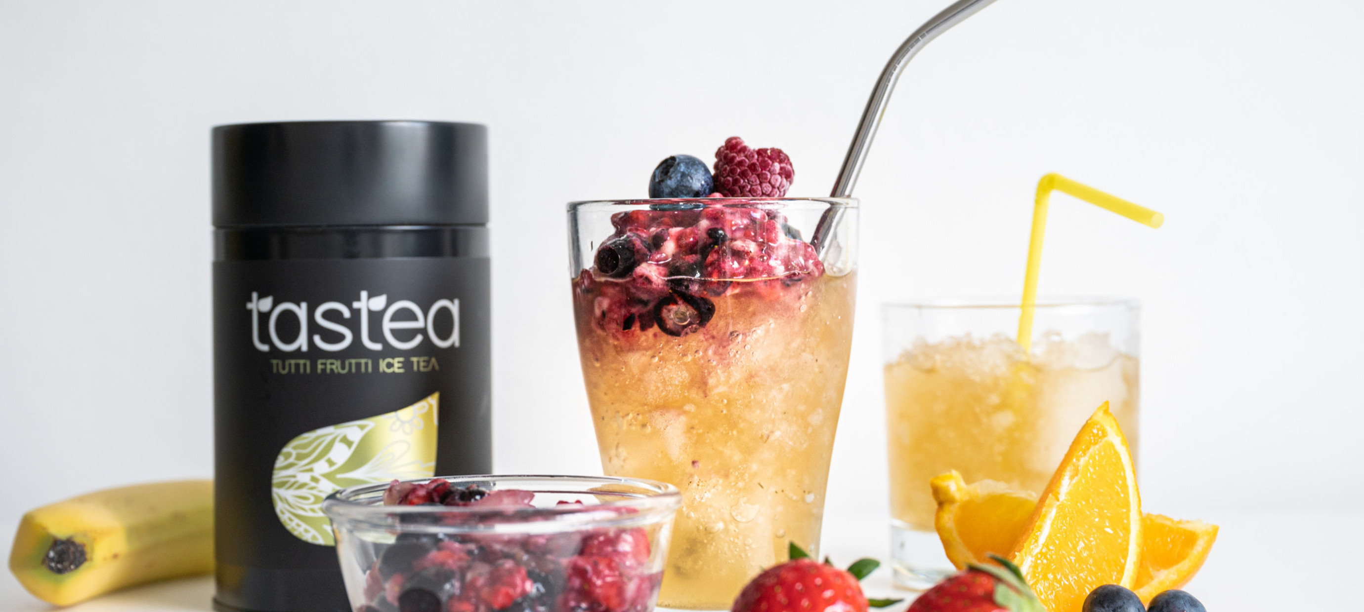 Ice tea Rezept: Tutti Frutti Crushed ice tea