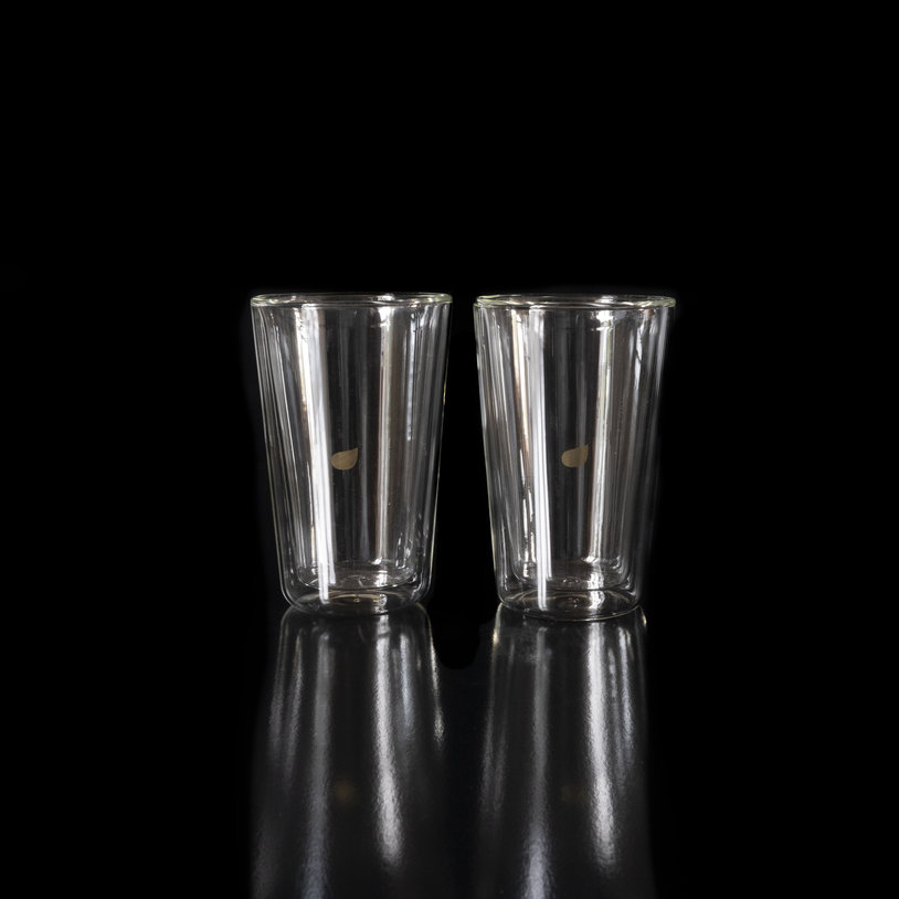 Double-walled glass 2 pieces